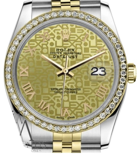Preload https://img-static.tradesy.com/item/19263106/rolex-ladies-31mm-datejust-2-tone-champagne-gold-jubilee-roman-numeral-dial-watch-0-1-540-540.jpg