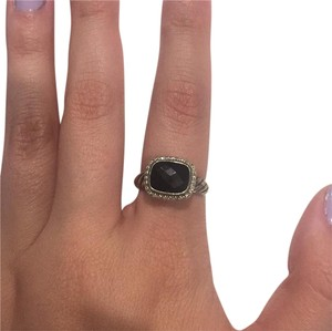 David Yurman Cable Black Onyx Ring With Diamonds