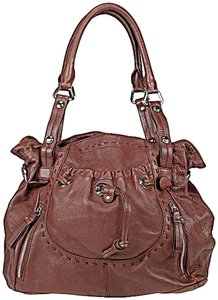 B. Makowsky Purse Satchel in Lisbon Brown
