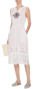 white Maxi Dress by SUNO Embroidered Eyelet Summer Beach