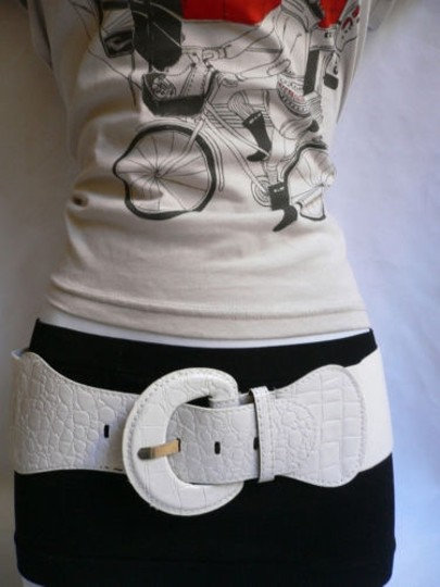 Other Women Hip High Waist Elastic True White Fashion Stretch Belt Plus Size Image 2