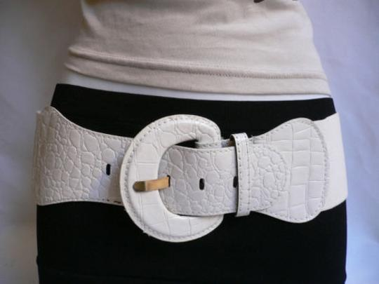 Other Women Hip High Waist Elastic True White Fashion Stretch Belt Plus Size Image 3