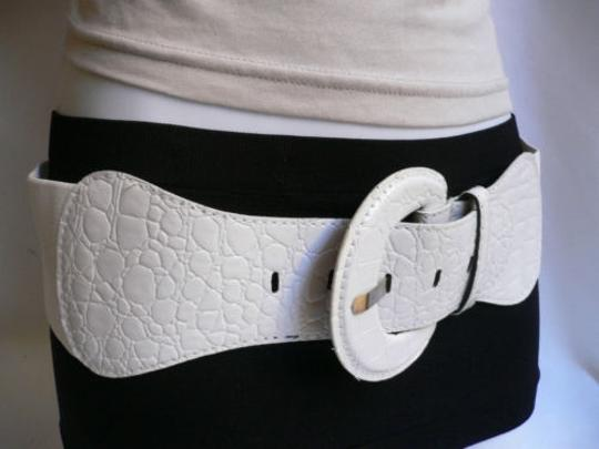 Other Women Hip High Waist Elastic True White Fashion Stretch Belt Plus Size Image 4