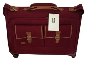 Hartmann Carry-on Raspberry/Camel with Leather Trim Travel Bag