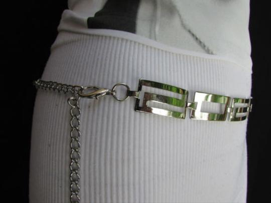 Other Women Silver Metal Thin 0.75 Fashion Metal Chains Belt Ls 28-40 S-m-l