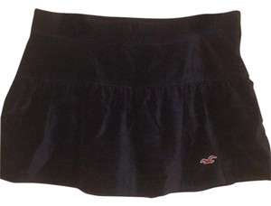 Hollister Velvet Mini Mini Skirt Navy