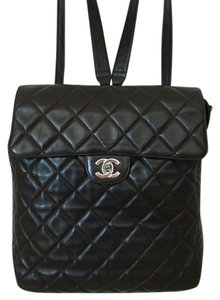 Chanel Black with Silver Hardware Lambskin Backpack - Tradesy : chanel quilted backpack - Adamdwight.com