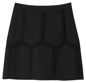 Banana Republic Lace Mini Skirt Black