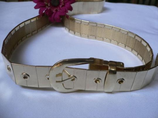 Other Women Gold Metal Plates Trendy Fashion Chic Belt 30-36