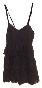 Abercrombie & Fitch short dress Navy Sleeveless Lace Ruffle V-neck on Tradesy