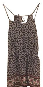 Other Print Short Sleeveless Dress