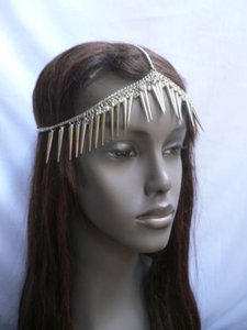 Other Women Silver Head Chain Long Spikes Fashion Jewelry Rhinestones Hair Circlet