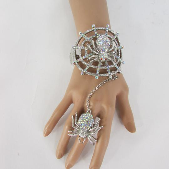 Other Women Big Spider Net Bracelet Fashion Hand Chain Slave Ring Silver Black