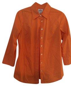J.Crew Button Down Button Down Shirt Orange