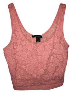 Forever 21 Lace Top Pink