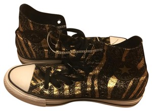 Converse Black gold giraffe stripe Athletic