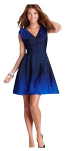 Ann Taylor LOFT short dress Black and blue on Tradesy