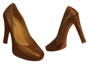 Michael Kors Leather Pump Bronze Pumps