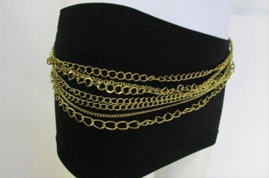 Other Women Antique Gold Multi Metal Chains Fashion Belt Hip Waist 29-45