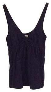 Abercrombie & Fitch Sleeveless V-neck Top Navy