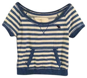 Abercrombie & Fitch Striped Stretchy Casual Sweatshirt
