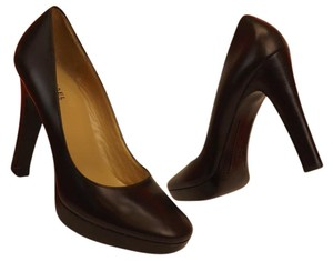 Michael Kors Leather Brown Dark Brown Pumps