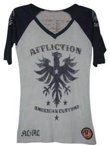 Affliction T Shirt Blue