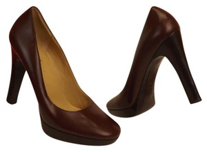 Michael Kors Leather Pump Burgundy Pumps