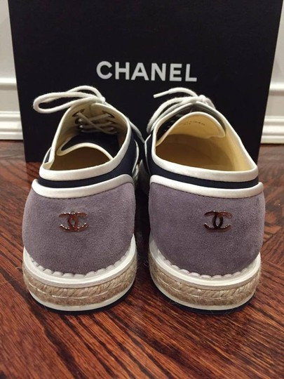 Chanel Espadrille Pearl Classic Cc blue Athletic