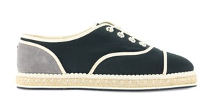 Chanel Suede Nylon Pearl Blue Flats