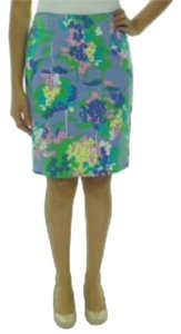 Tommy Hilfiger Pencil Pastel Color Free Shipping Size 10 Skirt Multi-Color