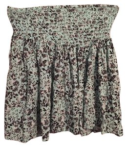 Aropostale Flower Flowy Floral Mini Skirt Blue