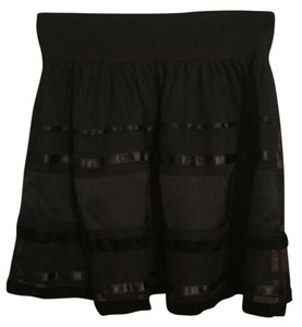 American Eagle Outfitters Winter Mini Skirt Black