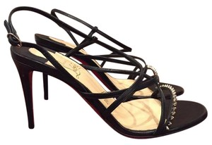 Christian Louboutin Gwinispike Spike Strappy Kid black Pumps