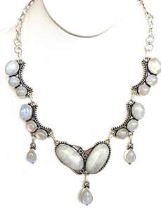 Other Peace and Balance Spiritual Moonstone Sterling Silver Necklace
