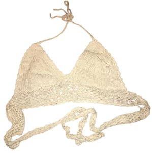 Earthbound Crochet Lace Top Cream