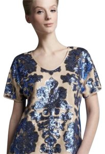 Tracy Reese Top Nude & Blue