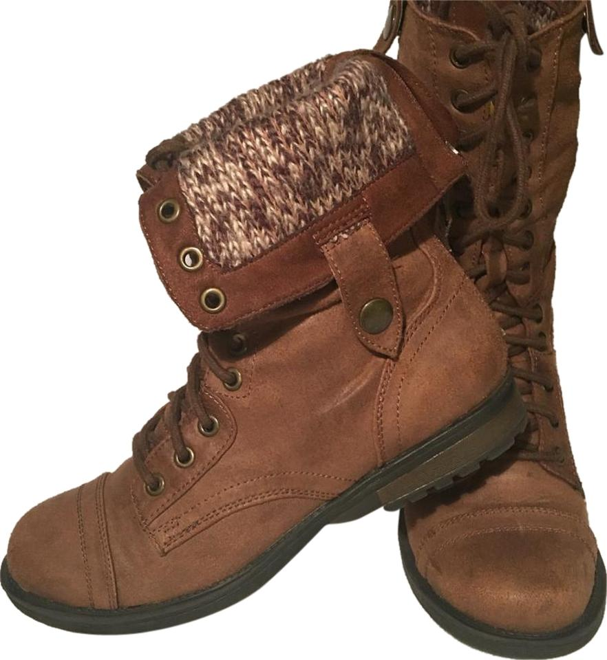 50e1e92f0fc5 Mossimo Supply Co. Brown Boots Booties. Size  US 7.5 Regular (M ...