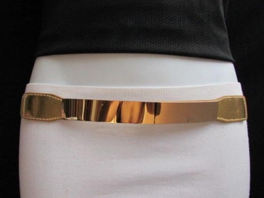 Other Women High Waist Gold Metal Plate Thin Fashion Belt Plus size