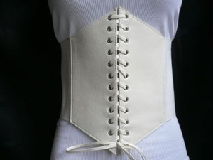 Other Women White 10 Wide Corset High Waist Fashion Slimming Belt
