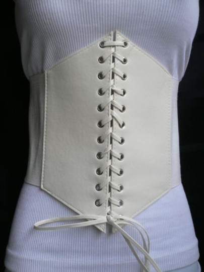 Other Women White 10 Wide Corset High Waist Slimming Belt