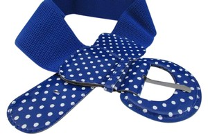 Other Women Elastic Hip Waist Belt Polka Dots Blue Belt Plus size