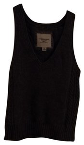 American Eagle Outfitters Wool Vest Knit V-neck Sleeveless Sweater