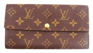 Louis Vuitton Monogram Canvas Leather Sarah Clutch Long Wallet w/ Box
