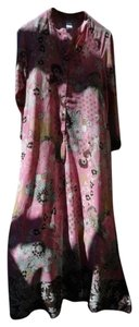 pastel pink multi Maxi Dress by Natori Caftan Lounge Gown Maxi
