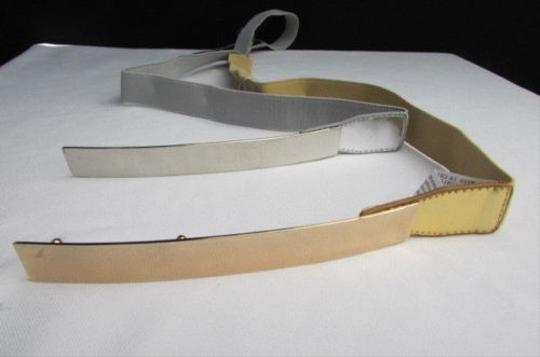 Other Women Fashion Gold Silver Thin Metal Plate Belt Elastic Sizes