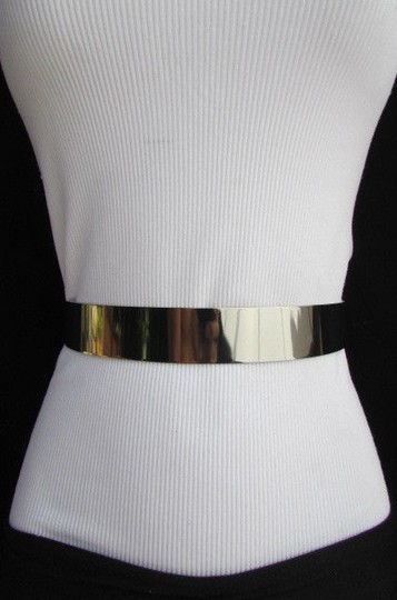Other Women Fashion Gold Silver Pewter Full Metal Plate Belt High Waist 27-34