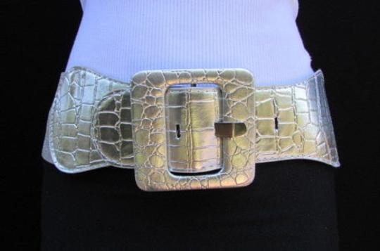 Other Women Elastic Hip High Waist Belt Black White Gold Silver Beige Mocha Navy