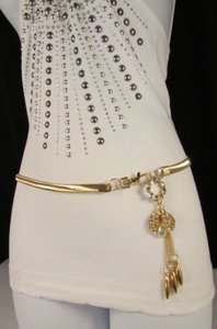 Other Women Fashion Gold Silver Elastic Metal Ladybug Belt Hip Waist 29-40