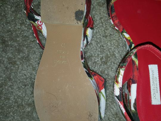 Other Red and white Sandals